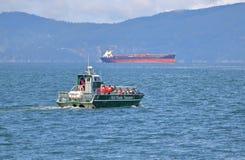 Barco de observação da baleia de Vancôver, Canadá Fotos de Stock