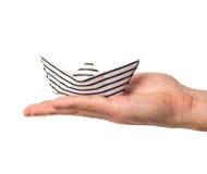 Barco de papel à disposicão imagens de stock royalty free