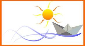Barco de papel Fotografia de Stock Royalty Free