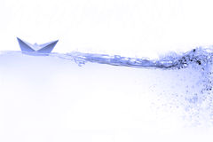 Barco de papel Foto de Stock