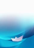 Barco de papel Fotografia de Stock