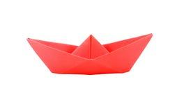 Barco de papel vermelho do origâmi Foto de Stock Royalty Free