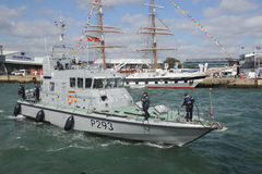 Barco de patrulha da marinha Fotos de Stock