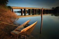 Barco de pesca. imagens de stock