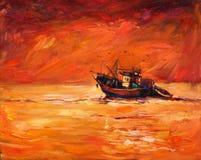 Barco de pesca Fotografia de Stock Royalty Free