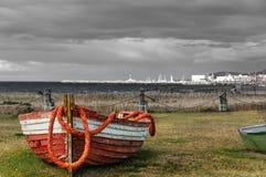 Barco de pesca abandonado Foto de Stock
