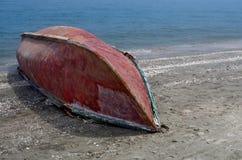Barco de pesca al revés Fotografía de archivo