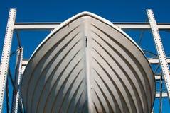 Barco de pesca blanco Foto de archivo libre de regalías