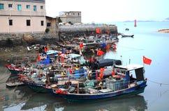 Barco de pesca chinês Foto de Stock