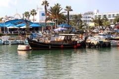 Barco de pesca Chipre Ayia Napa Imagen de archivo
