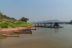 Barco de pesca da paisagem Imagem de Stock Royalty Free