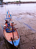 Barco de pesca da praia de Pranburi Foto de Stock