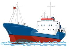 Barco de pesca da traineira Foto de Stock Royalty Free