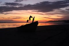 Barco de pesca de Costa Rica Fotos de archivo libres de regalías