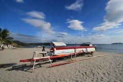 barco de pesca de Filipinas na praia subic Fotografia de Stock