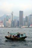 Barco de pesca de Hong Kong fotografia de stock