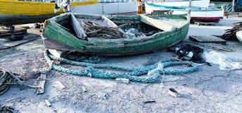 Barco de pesca de madera Fotos de archivo