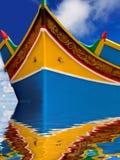 Barco de pesca de Malta fotografía de archivo