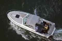 Barco de pesca desde arriba Imagenes de archivo