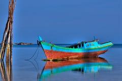 Barco de pesca do console de Belitung Fotografia de Stock Royalty Free