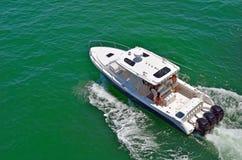 Barco de pesca do esporte fotografia de stock