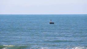 Barco de pesca do oceano que faz a volta a estibordo video estoque
