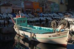 Barco de pesca em DES Auffes de Vallon Fotografia de Stock