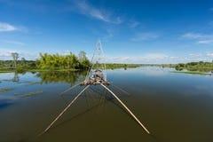 Barco de pesca en Asia Imágenes de archivo libres de regalías