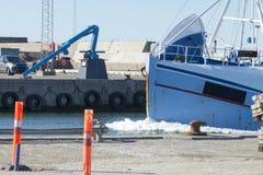 Barco de pesca en Dinamarca Foto de archivo