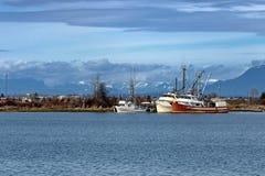 Barco de pesca en el puerto deportivo Fotos de archivo