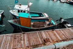 Barco de pesca en Escocia Imagen de archivo
