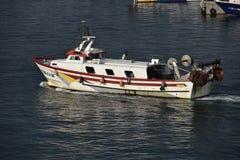Barco de pesca español Foto de archivo libre de regalías