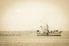 Barco de pesca GA da ilha de Jekyll fotos de stock royalty free