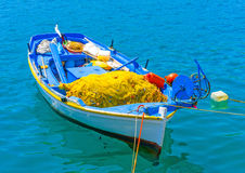 Barco de pesca griego Fotografía de archivo