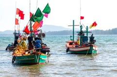Barco de pesca local fotografia de stock