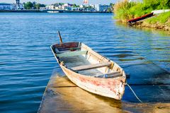 Barco de pesca mexicano fotografia de stock