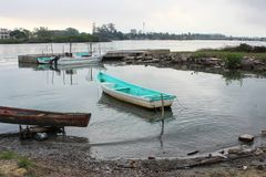 Barco de pesca mexicano foto de stock
