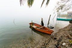 Barco de pesca mexicano imagem de stock