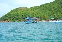 Barco de pesca na ilha de Larn Foto de Stock