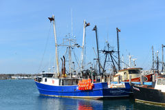 Barco de pesca, Narragansett, RI fotos de stock royalty free
