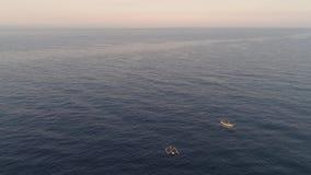 Barco de pesca no mar, Indonésia vídeos de arquivo