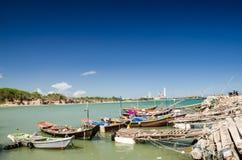 Barco de pesca no mar tailandês Imagens de Stock