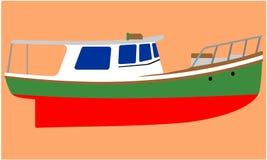 Barco de pesca pequeno ilustração stock