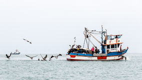 Barco de pesca peruano Imagem de Stock Royalty Free