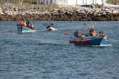 Barco de pesca português imagem de stock royalty free