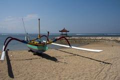 Barco de pesca, Sanur Fotografia de Stock Royalty Free
