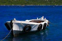 Barco de pesca solo Imagen de archivo