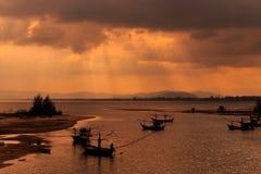 Barco de pesca tailandés Imágenes de archivo libres de regalías