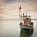 Barco de pesca tailandés colorido foto de archivo libre de regalías