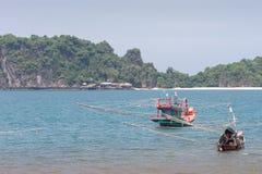 Barco de pesca tailandês Fotos de Stock Royalty Free